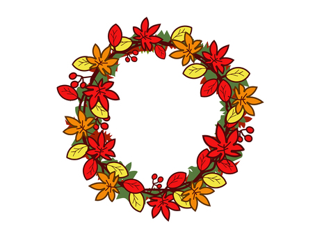 Autumn wreath wreath