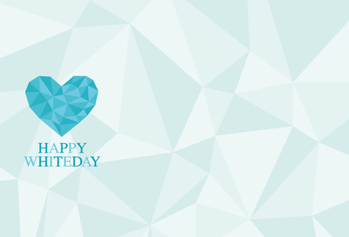 White Day Message Card etc. Background