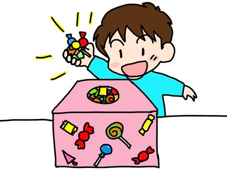 Grabbing sweets
