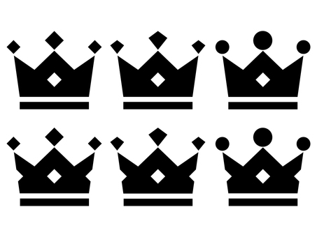 Crown black (black) 6 kinds