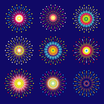 [PNG 배경 투명] 불꽃 놀이 대회 여름 축제