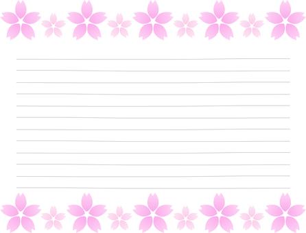 Sakura pattern letter paper