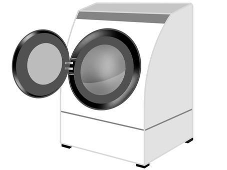 드럼 세탁기 흰색