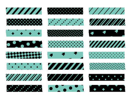 Masking tape (black mint)