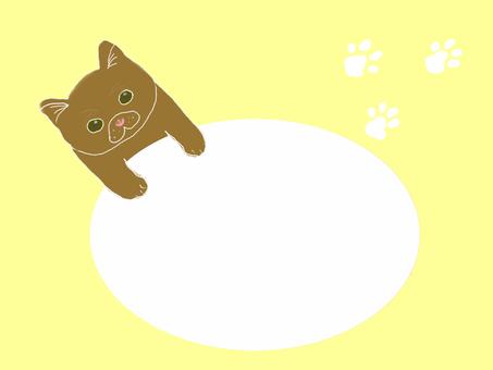 고양이 메시지 카드