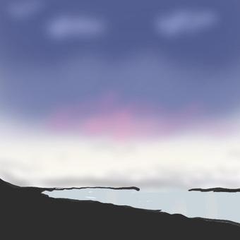 Early morning coast