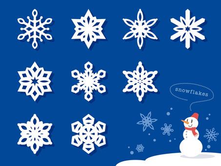 紙切り細工みたいな雪の結晶いろいろ