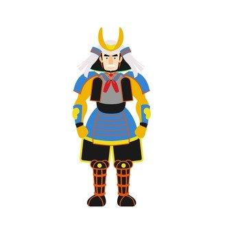 Warrior, blue