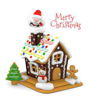 聖誕老人和甜蜜的家3D