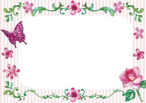 붉은 꽃 카드
