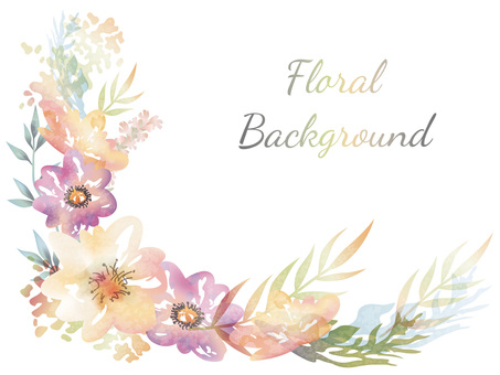 Water color flower background background illustration