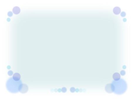 Mesh frame motif frame material - Blue line