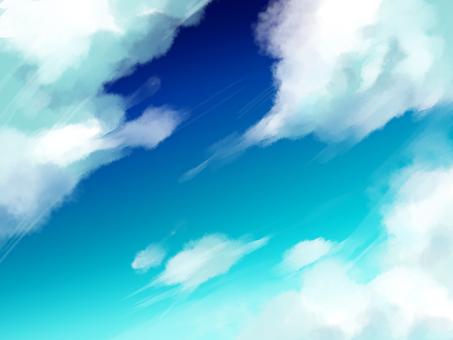 Blue sky material