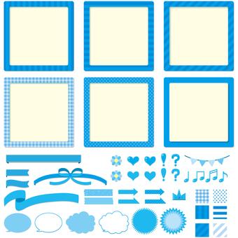 標籤,框架,氣球,絲帶,圖標集