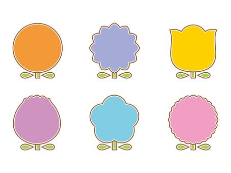 Flower decorative frame color