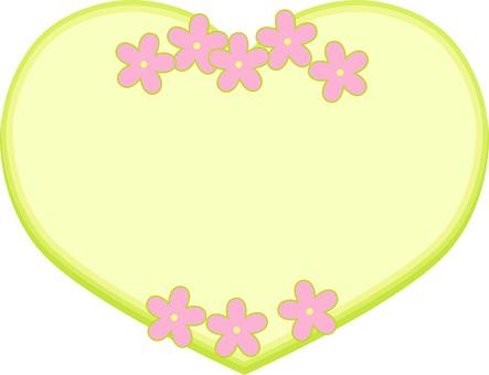 Flower board heart (green)