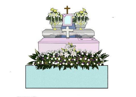 장례식 그리스도 생화 제단
