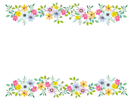 Floral frame of early summer flowers