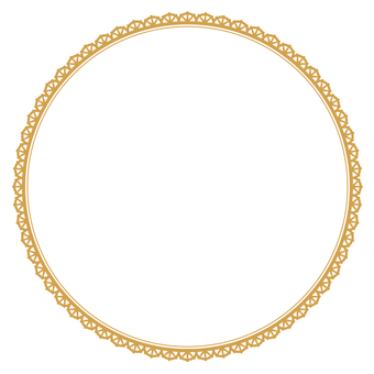 Round frame 3 gold