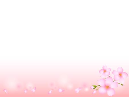 Cherry blossom decorative frame