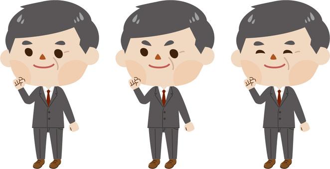 Middle-aged man - suit