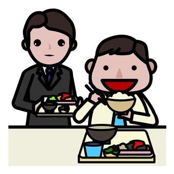 サラリーマンの食事