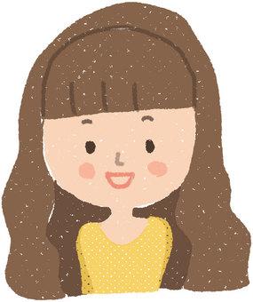 顔アイコン_女性1