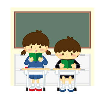 Elementary school student_in class