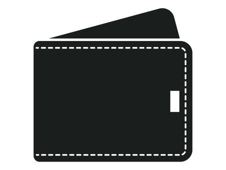 Wallet black and white icon