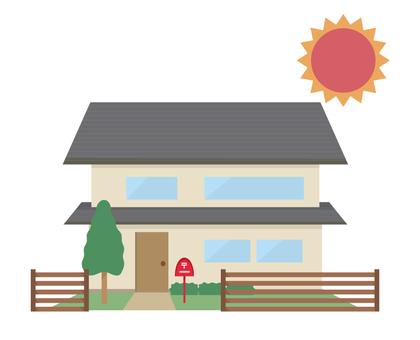 庭付き 2 층 단독 주택