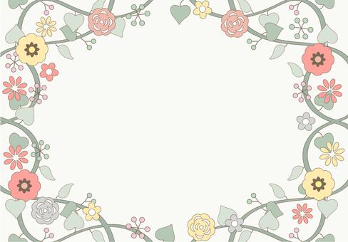 Flower pattern frame
