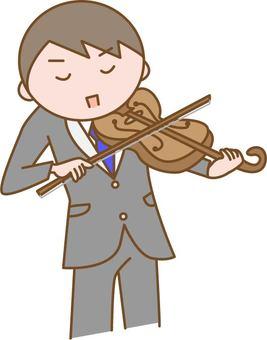 바이올린을 연주 남성