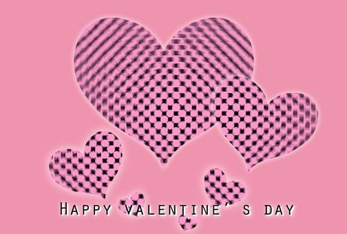 Valentine pink dot heart