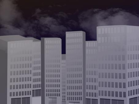 깜깜한 밤의 도시