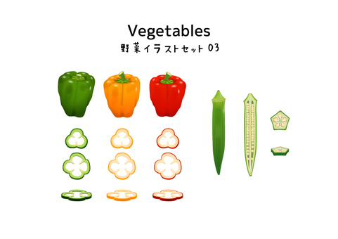 Vegetable illustration set 03
