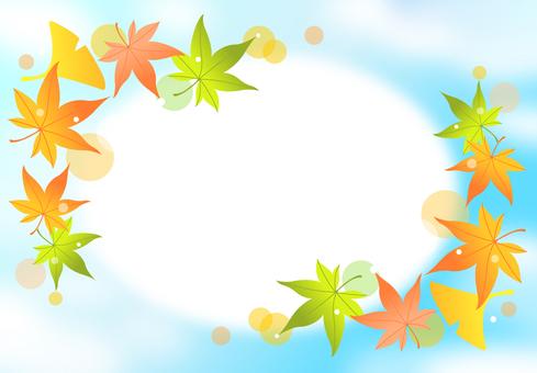 가을 하늘 단풍 프레임