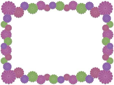 Chrysanthemum flower frame 2