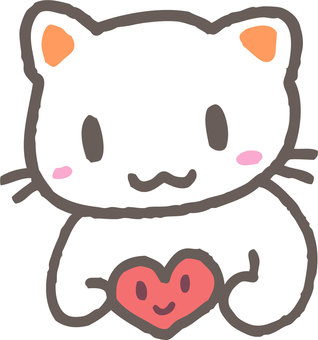 Cat with heart 2