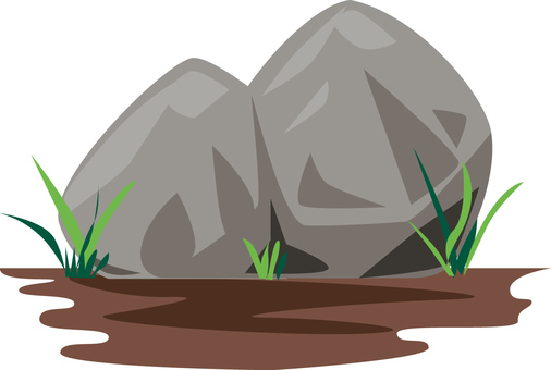 Rock 1 (with grass and ground)