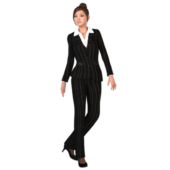 Pants suit woman 05