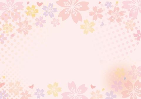 편지지 봄 벚꽃