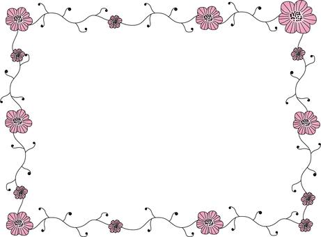 Flower frame pink 2