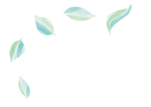 New leaves watercolor