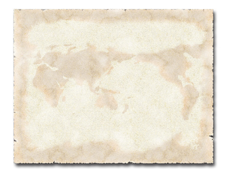 Used paper vintage texture world map