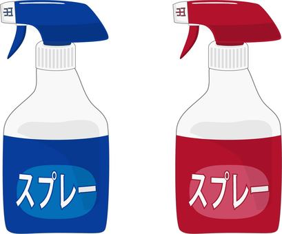 Spray type detergent