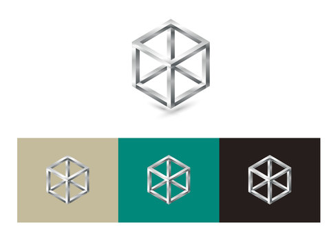 Cube metallic logo