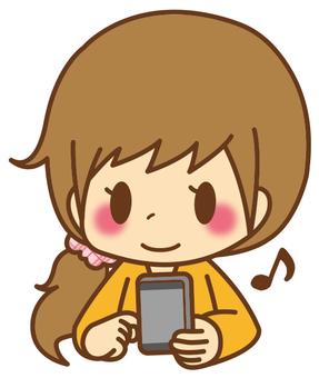 Women * smartphone