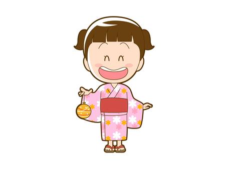 Summer _ girl in a yukata with water balloons _ 006