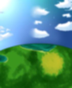 Easy Background Sky / Land Blur Ver