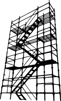 Scaffolding _ silhouette _ black